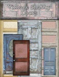 Vintage-Shabby-Doors & Distressed Textures | Second Life Texture Bundles » Vintage Shabby Doors